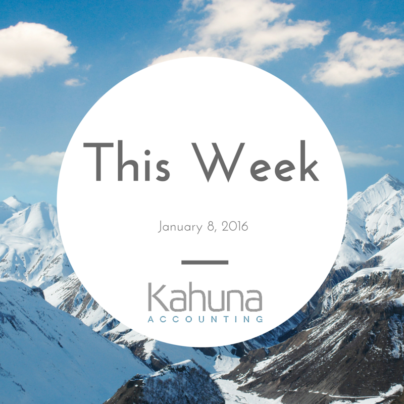 Kahuna Accounting's Week in Review January 8: News, Resources, and You!