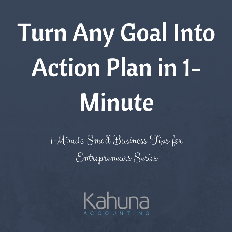 how to create a goal action plan