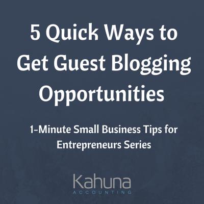 Guest Blogging opp