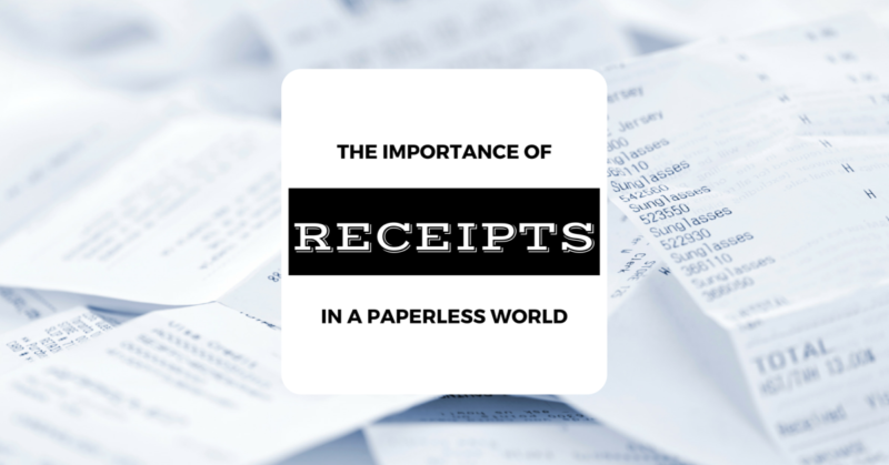 The Importance of Business Receipts in a Paperless World